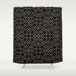 Islamic-African Geometric Pattern Shower Curtain