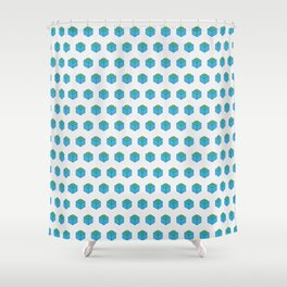 Square in Square Shower Curtain