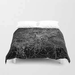 Cincinnati map Duvet Cover