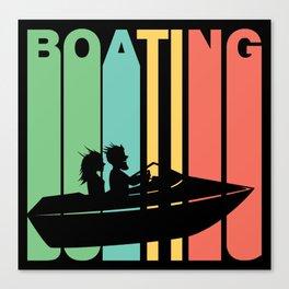 Retro Style Boating Boat Canvas Print