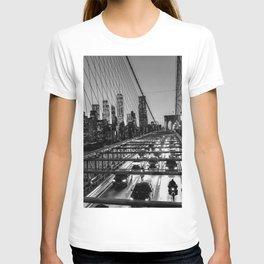Crossing the Brooklyn Bridge T-shirt