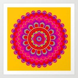 Masala Mandala Art Print
