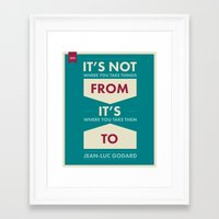 godard Framed Art Prints featuring Godard (The quotes series) by Azarias