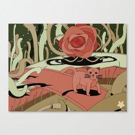Cat landscape Canvas Print