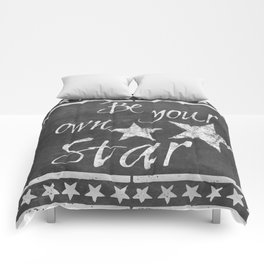Be your own star chalkboard Typography Comforters
