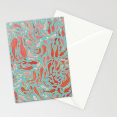 Koi - Coral & Turquoise Stationery Cards