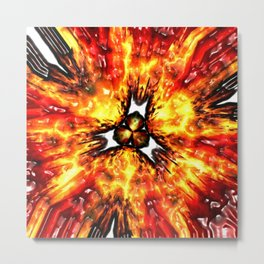 Feuer Flower 2 Metal Print