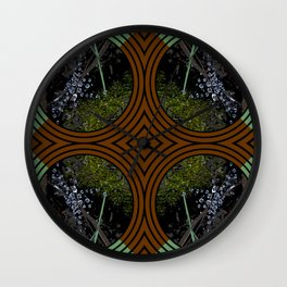 Nature Portals Pattern Wall Clock
