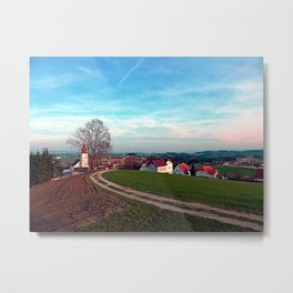 Hiking into springtime scenery | landscape photography Metal Print