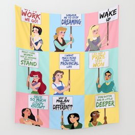 Protest Princesses Wall Tapestry