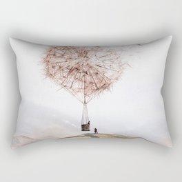 Flying Dandelion Rechteckiges Kissen