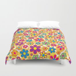 Bright Flowers Duvet Cover