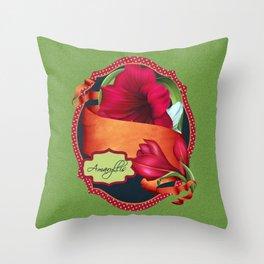 Tropical Amaryllis Throw Pillow