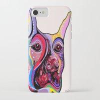 doberman iPhone & iPod Cases featuring Doberman by EloiseArt