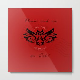 send me an owl - red  Metal Print