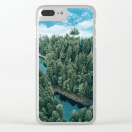 Mountain in a Lake - Landscape Photography Clear iPhone Case