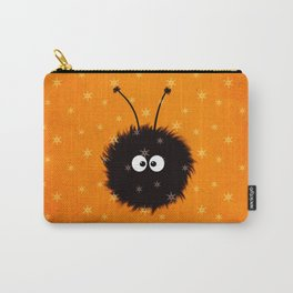 Orange Cute Dazzled Bug Winter Carry-All Pouch