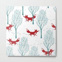 red wolf Metal Print