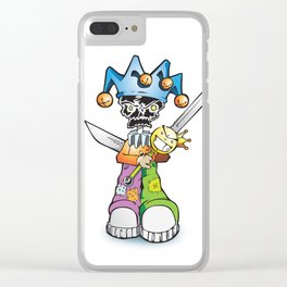 skull clown Clear iPhone Case
