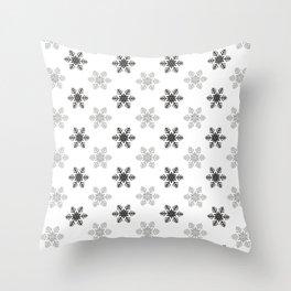 Snowflake Pattern   Winter   Hygge   Scandi   Black and White   Throw Pillow