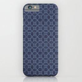 Thai Indigo Batik 7 iPhone Case