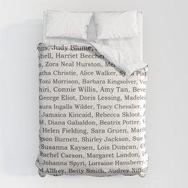 The Ladies of Literature Pattern Comforters