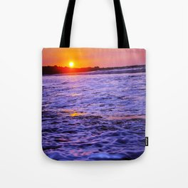 dusk to wave Tote Bag