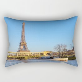 Sunset over Bir-hakeim bridge - Paris Rectangular Pillow