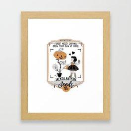 Jack O'Lantern Seeds Framed Art Print