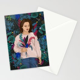 Lana in the jungle Stationery Cards