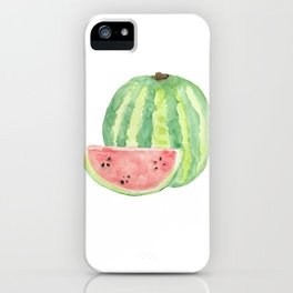 Watermelon Watercolour  iPhone Case