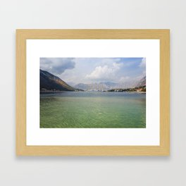 Sailing Ship in the Kotor Bay in Montenegro Framed Art Print