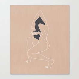 Minimalist Woman - Peach Canvas Print