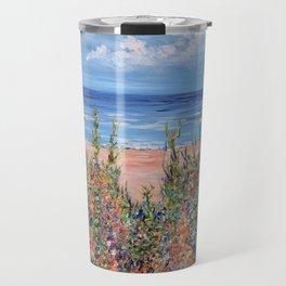 Summer Beach, Impressionism Seascape Travel Mug