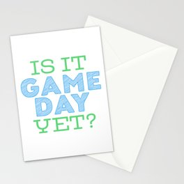 Is it Game Day Yet? - Blue/Mint Stationery Cards