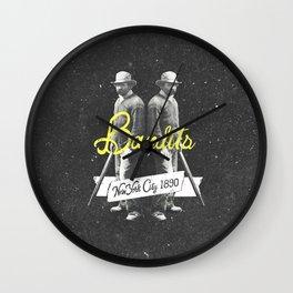 Vintage Western New York Bandits Black White Art Wall Clock