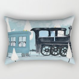 the arctic express Rectangular Pillow