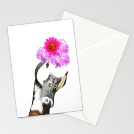 Goose funny farm animal illustration Stationery Cards