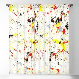 Paint Splatter Blackout Curtain
