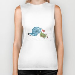 The Fear of Vomiting [flowers] Biker Tank