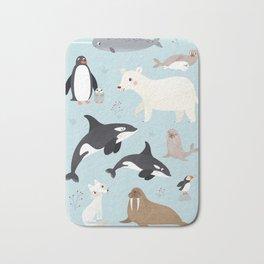 Nursery Arctic Animals POSTER Bath Mat
