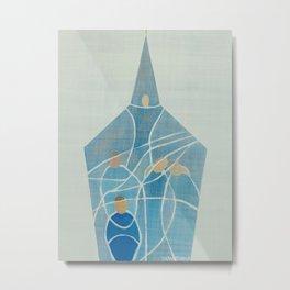 Where the Veil is Thin Metal Print
