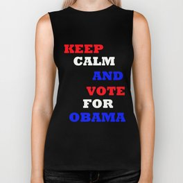 Keep Calm and Vote for Obama Biker Tank