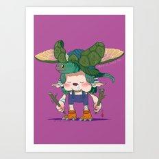 Legend of Animal Hat: Yoshiki and Capitan Art Print