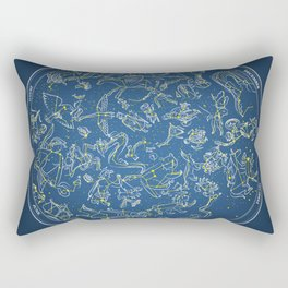 Constellations of the Northern Sky - Negative version Rectangular Pillow