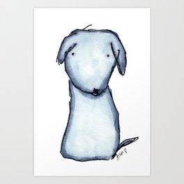 Puppy Blue Art Print