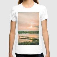 running T-shirts featuring Running clouds by Svetlana Korneliuk