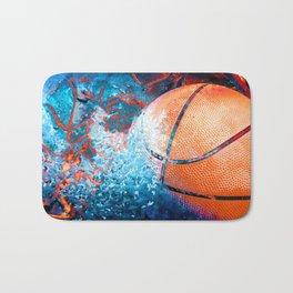 Unique Basketball Art Bath Mat