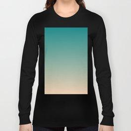 Teal and Angelskin Coral Tropical Paradise Island Hawaiian Beach Long Sleeve T-shirt