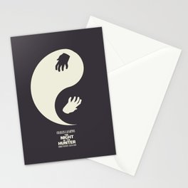 The night of the hunter, minimal movie poster (Robert Mitchum, Charles Laughton) classic Hollywood Stationery Cards